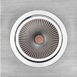 PerfectLights LED COB 9W spot encastrable réglable ALU brossé dimmable 01660062