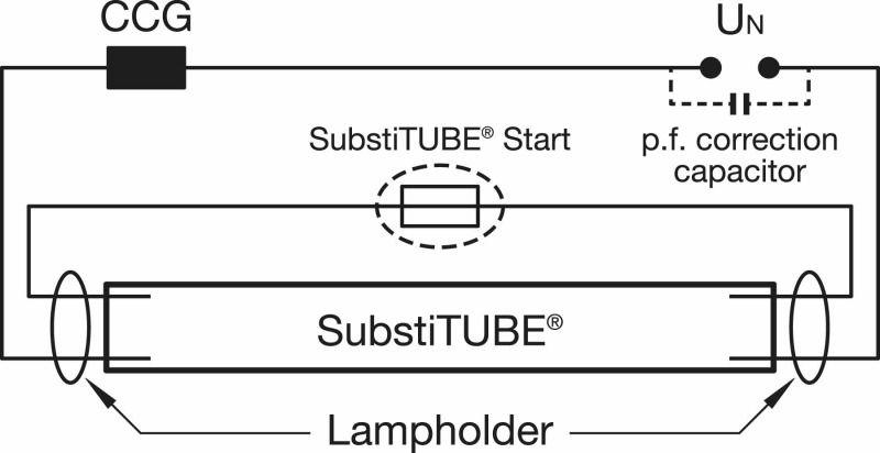 Schema Cablaggio Wikipedia : Osram substitube avancée lampe à tube fluorescent led cm