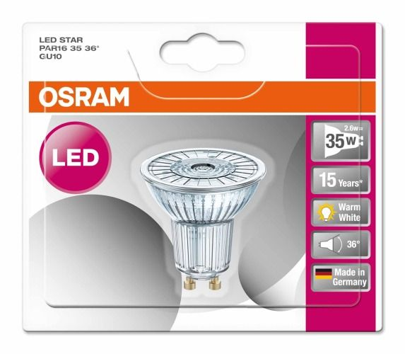 osram led star 5 5w warm wit gu10. Black Bedroom Furniture Sets. Home Design Ideas