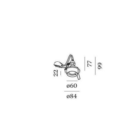 Wever & Ducré Inbouwspot IP44 Rini Sneak 1.0 PAR16