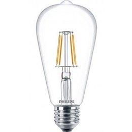 Philips Rétro classique Filament LED E27 6W blanc chaud ST64 57405800
