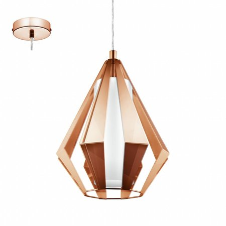 EGLO Rustic LED Pendant luminaire Taroca 95 534 Copper