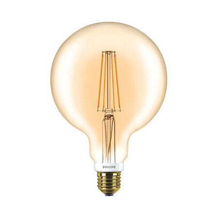 Philips LED Globe Vintage Style G120 E27 630Lm 7W warm wit DIM 57577200