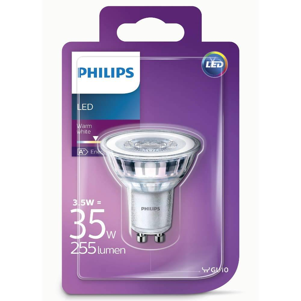 philips led classic 3 5 35w warm white gu10 warm white. Black Bedroom Furniture Sets. Home Design Ideas