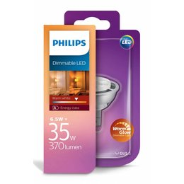 Philips LED MR16 6.5W-35W dimmable Warm Glow