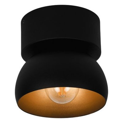 PSM Lighting Olivia Design LED ceiling spotlight black / gold 1811.E27.29