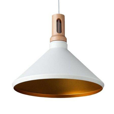 Absinthe Lighting Timba regular LED design pendant luminaire white / gold 25020-01.10