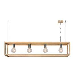 Lucide ORIS LED Design Pendelarmatuur Hout 31472/04/72