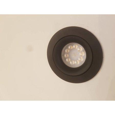 LioLights LED dimbare Inbouwspot Bloss 85 zwart