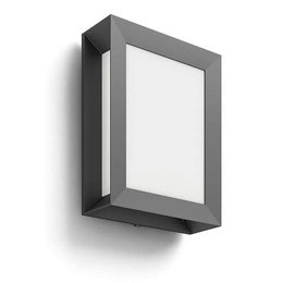 Philips LED Outdoor wall lamp Philips MyGarden Karp Anthracite 172939316