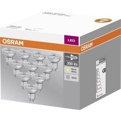 OSRAM LED spot 4.3-50W WARM WIT GU10 10-pack