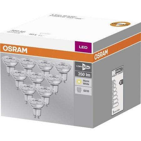 OSRAM LED spot 4.3-50W WARM WIT GU10 10-pack