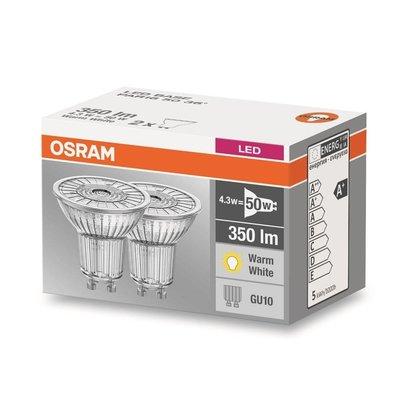 OSRAM LED Base 4.3-50W WARM WIT GU10 dubbelpack