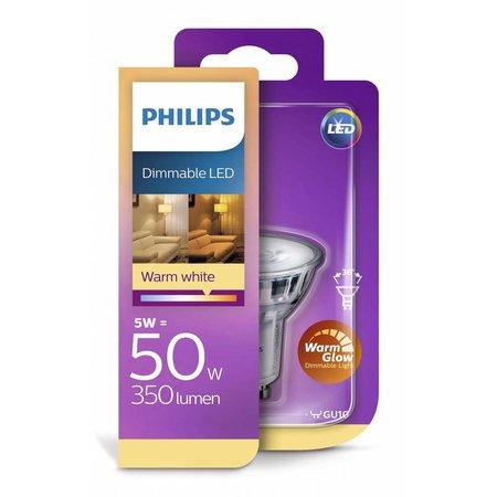 Philips Led Classic GU10 5W-50W WarmGlow dimbaar
