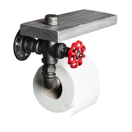 ETH Porte-rouleau firehose toilette vieil argent 05-WL1330-17