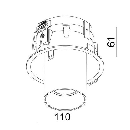 Absinthe Lighting LED Inbouwspot Tuup SRC 30016-01-HW