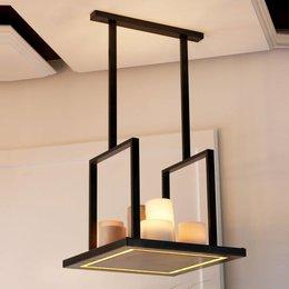 Authentage verlichting Exclusive Led pendant luminaire Bellefeu Suspension Carré