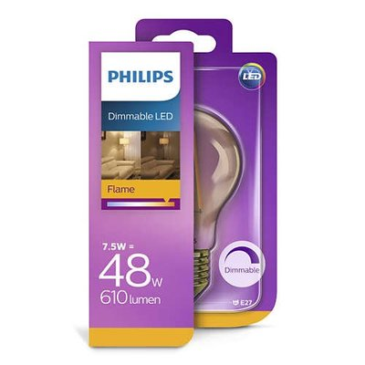 Philips E27 Retro Filament LED Classic 7.5-48W E27 Gold Dimmable