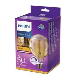 Philips Globe LED Vintage Style G120 E27 630Lm 7W blanc chaud DIM
