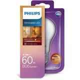 Philips E27 LED lamp A60 warmglow 8-60W DIM