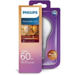 Philips E27 ampoule LED A60 lueur chaude 8-60W DIM