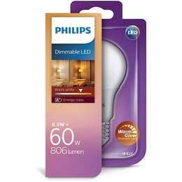 Philips E27 LED lamp A60 warmglow 8-60W DIM