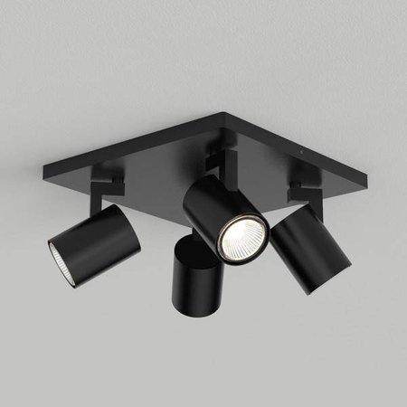 LioLights LED Opbouwspot Kona 4 zwart
