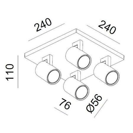 LioLights LED Surface-mounted spot Kona 4 black