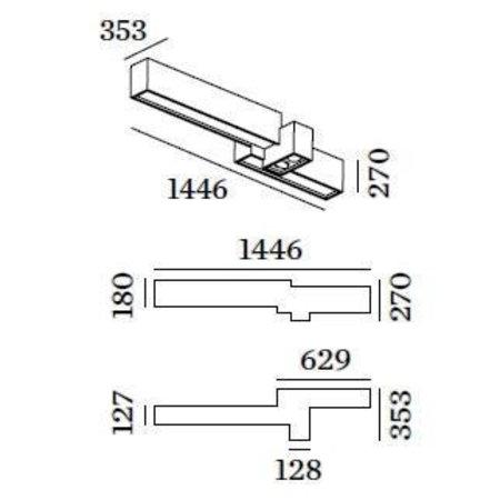 Wever & Ducré LED Design plafondarmatuur Bebow 4.0