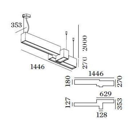 Wever & Ducré LED Design suspended luminaire Bebow 3.0