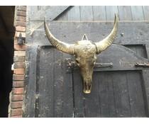 Antique gold skull
