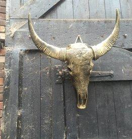 Damn Antique gold skull