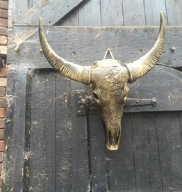 Damn Skull goud antiek