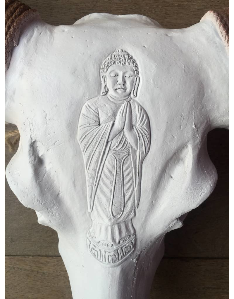 Damn Skull gegraveerd buddha 1