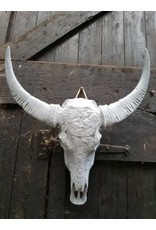 Damn Skull engraved concrete color
