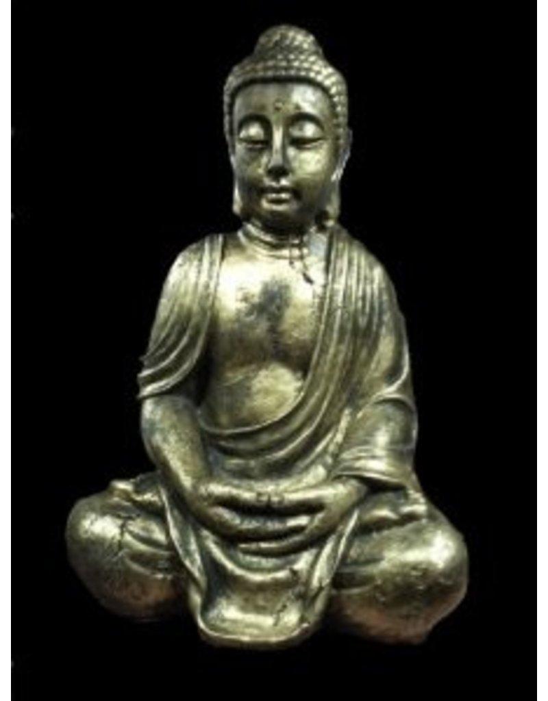 Buddha hands on lap