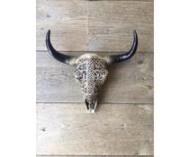 Skull printed short