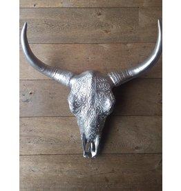 Damn Skull zilver 62 cm