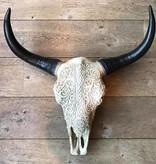 Damn Skull bedrukt groot F47