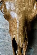Damn Skull 74 cm houtskleur