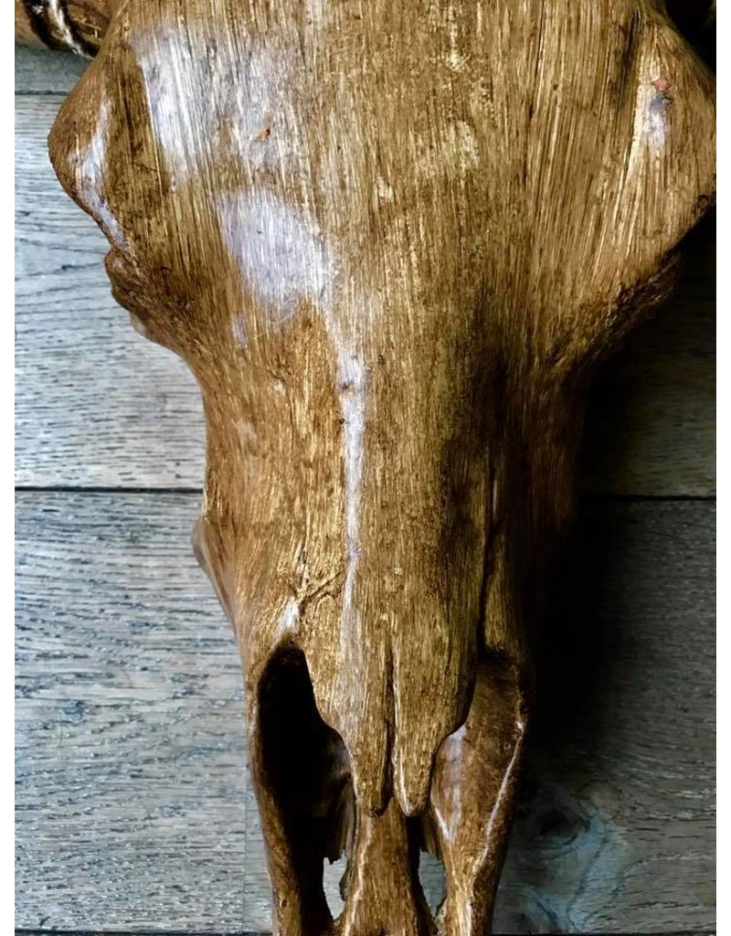 Damn Skull 74 cm wood color
