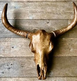Damn Skull 74 cm wood color