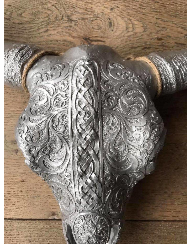 Damn Skull 40 cm silver