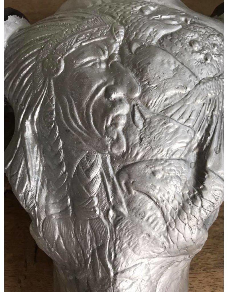 Damn Skull engraved black and silver