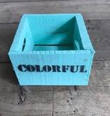 Kist turquoise 15 x 15