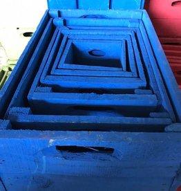 Kist kobaltblauw 15 x 15 vanaf