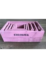 Damn Set of 6 boxes pink