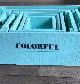 Set of boxes 6 turquoise