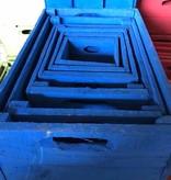 Set of 6 cases cobalt blue