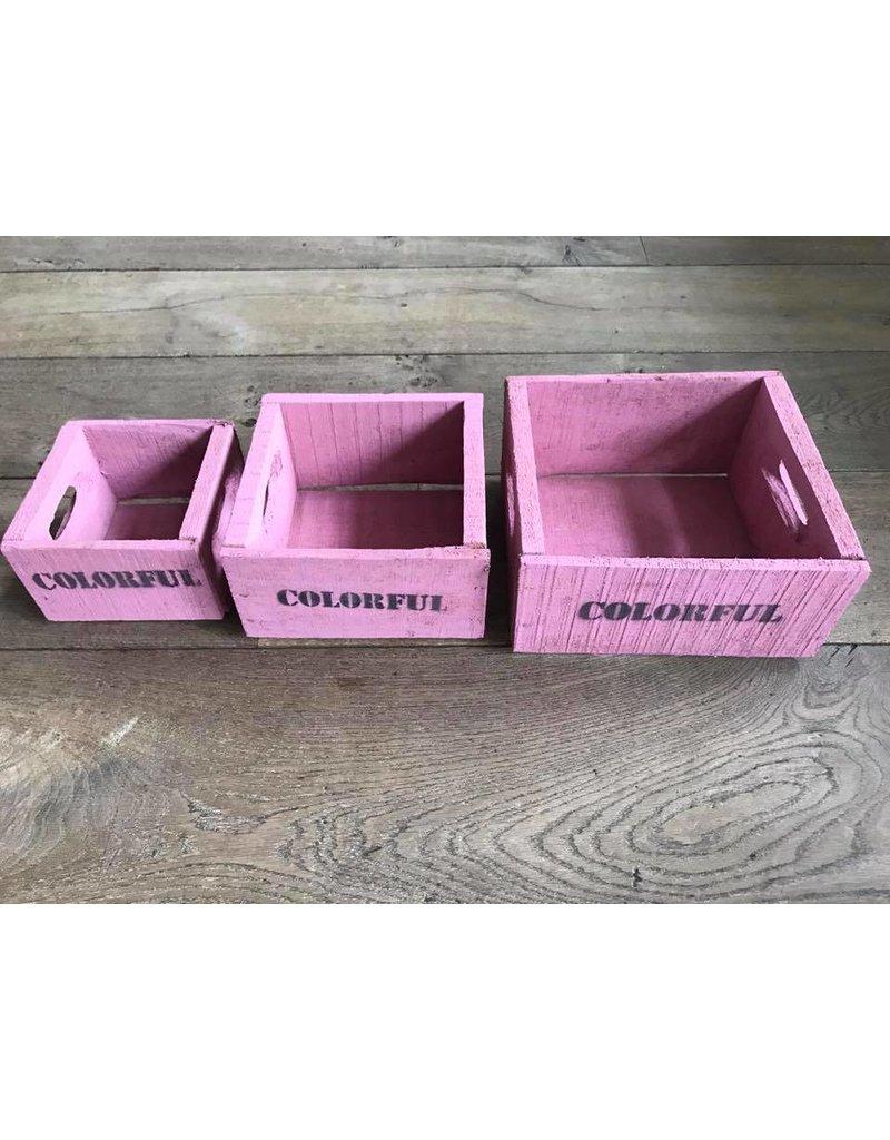 Set van 3 kisten klein